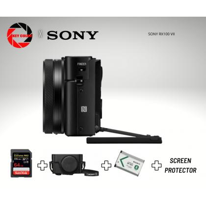 SONY RX100 VII Mark 7 + SANDISK EXTREME PRO 64GB 4K HIGHSPEED + SONY RX CASE + EXTRA BATTERY + SCREEN PROTECTOR (SONY MALAYSIA 15 WARRANTY)