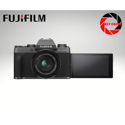 Fujifilm X-T200 Mirrorless Digital Camera with 15-45mm Lens + Sandisk 32GB + Extra Fujiflm W126s Battery (Fujifilm Malaysia Warranty) + 32GB High speed card + Bag + Extra Battery (Fujifilm Malaysia Warranty)