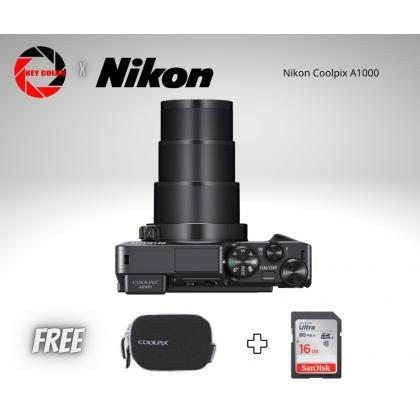 Nikon Coolpix A1000 + Nikon Coolpix Case + 16GB HighSpeed Card