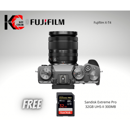 FUJIFILM X-T4 Mirrorless Digital Camera with 18-55mm Lens (Fujifilm Malaysia Warranty)