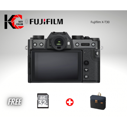 Fujifilm X-T30 XT30 Mirrorless Digital Camera with XF 18-55mm Lens (Fujifilm Malaysia Warranty) + 32GB High Speed memory card + Bag + Screen Protector