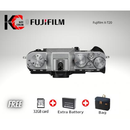 Fujifilm X-T20 Mirrorless Digital Camera (Body) + 32GB + Extra Battery W126 + Screen Protector + Bag (Fujifilm Malaysia Warranty)
