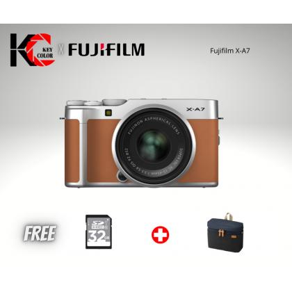 Fujifilm X-A7 Mirrorless Digital Camera with 15-45mm Lens (Fujifilm Malaysia Warranty) + 32GB High speed card + Bag