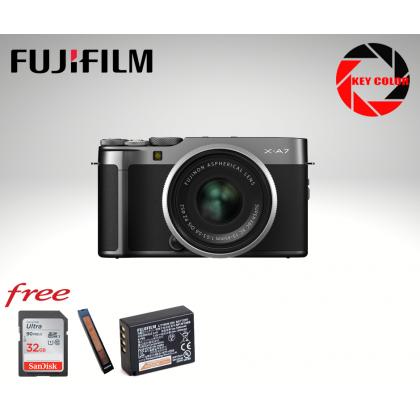 Fujifilm X-A7 Mirrorless 15-45mm Kit + Sandisk 32GB + Fujiflm Strap + Extra Fujiflm W126S battery (Fujifilm Malaysia Warranty)