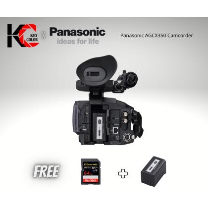 Panasonic AG-CX350 4K Camcorder + Panasonic VBR59 Battery + 64GB HighSpeed card (Panasonic Malaysia Warranty)