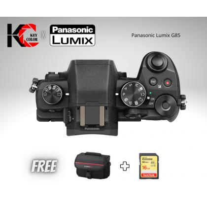 Panasonic Lumix DC-G85 Mirrorless Micro Four Thirds Digital Camera Body Only + 16GB Card + Case 1 + 1 Year Online Warranty Registration