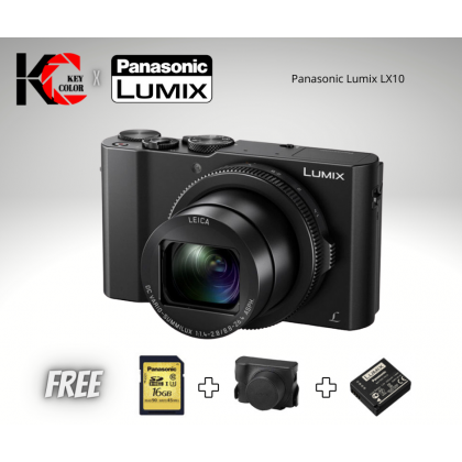 Panasonic Lumix DMC-LX10 Digital Camera + 16GB Card + Camera Case + Panasonic Extra Battery (1+1 Year Official Panasonic Malaysia Warranty)